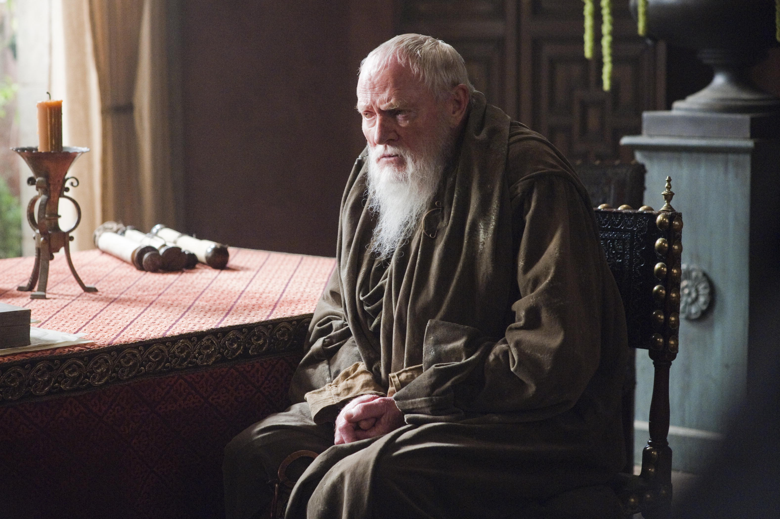 Grand Maester Pycelle was kind of a jerk, but he wasn't a villanous jerk.