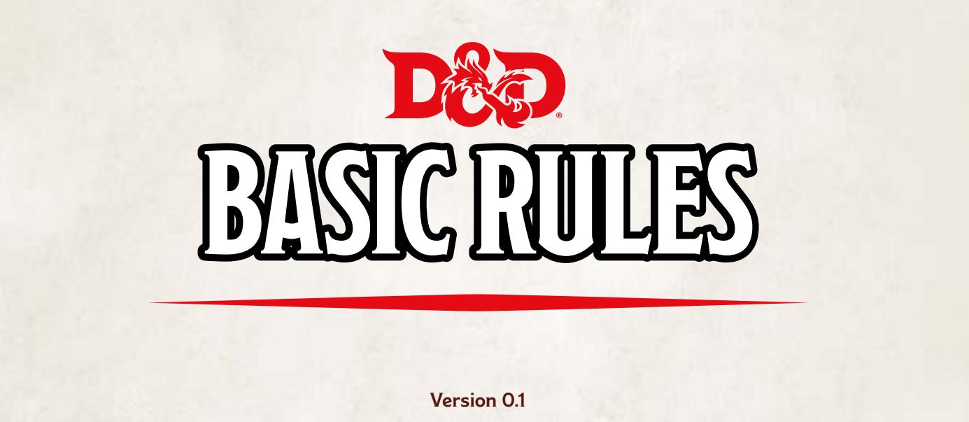 Basic Rules - D&D, starter set, 5th ed