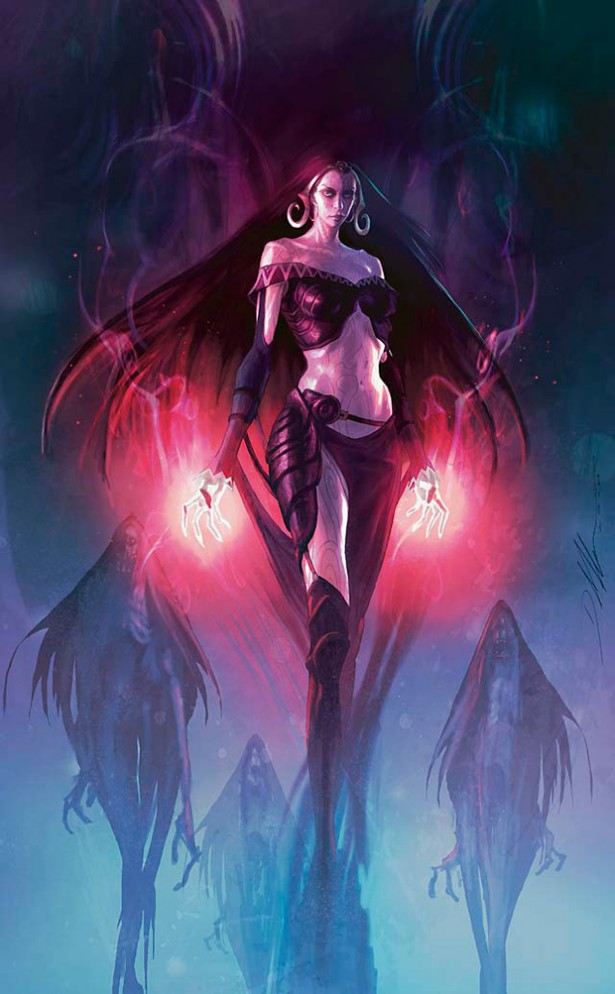 Liliana of the Dark Realms Art by D. Alexander Gregory