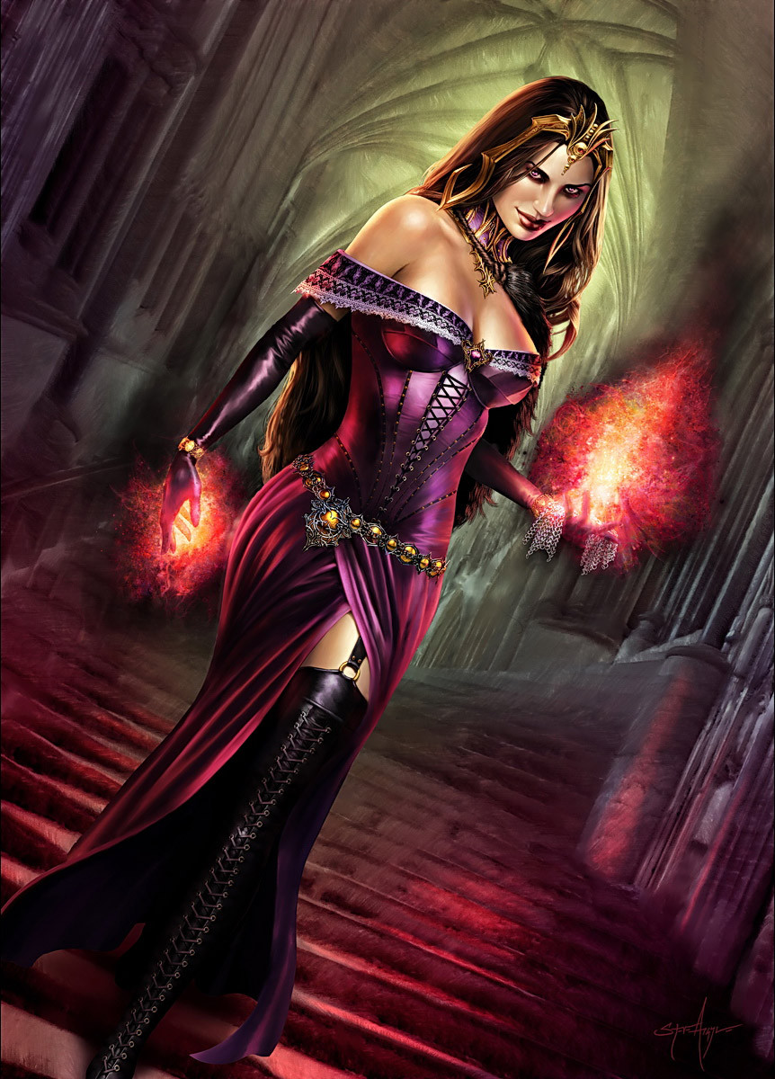 LIliana of the Veil Art by Steve Argyle