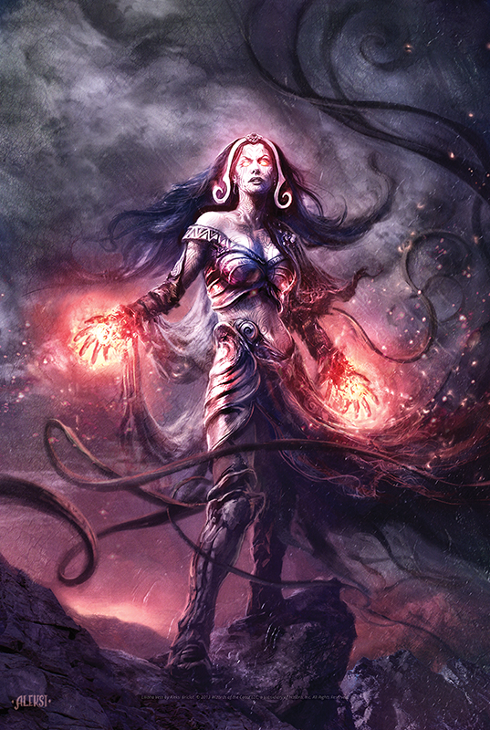 Liliana Vess art by Aleksi Briclot
