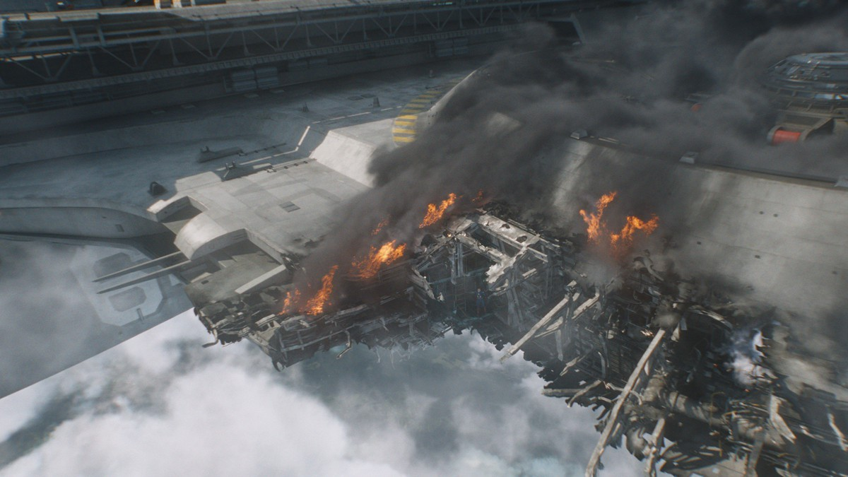 Damaged Shield Helicarrier