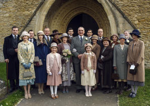 Downton Abbey Part Three - Sunday,  January 17, 2016 at 9pm ET on MASTERPIECE on PBS  A wedding dress drama takes a disastrous turn. The breakfast battle is settled. A handsome volunteer helps Edith meet a deadline. The hospital debate gets nasty.   Shown: Cast   (C) Nick Briggs/Carnival Film & Television Limited 2015 for MASTERPIECE   This image may be used only in the direct promotion of MASTERPIECE CLASSIC. No other rights are granted. All rights are reserved. Editorial use only. USE ON THIRD PARTY SITES SUCH AS FACEBOOK AND TWITTER IS NOT ALLOWED.