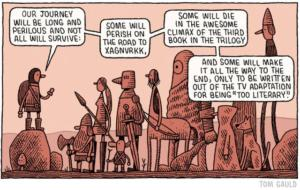 Comic by Tom Gauld