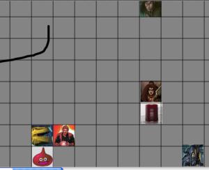 Dungeons and dragons, battle, d20, dungeon tiles, Tableforge, halfling, dragonbron, dwarf, dnd,
