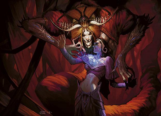 Demonic Tutor Art by Scott Chou