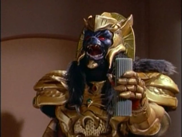 Goldar Holding the Green Candle
