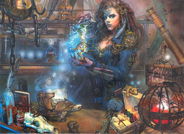 Sydri, Galvanic Genius art by Terese Nielsen