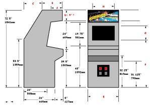 Asteroids Arcade Cabinet Plans