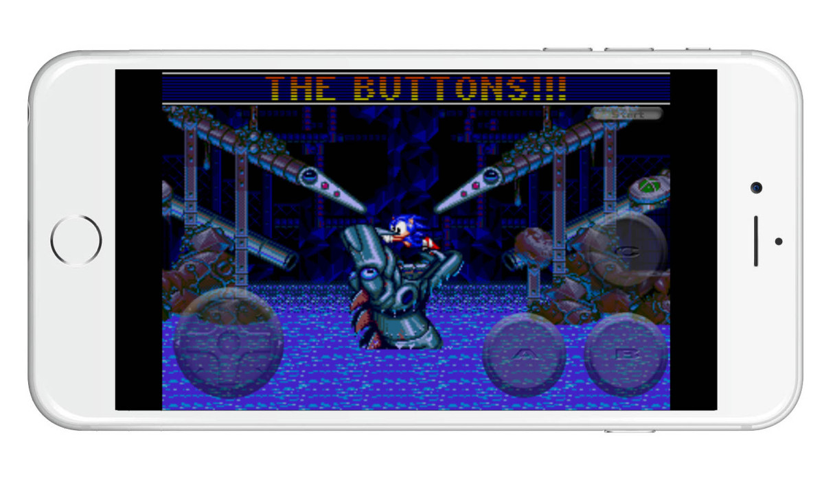 Sonic Spinball on iPhone