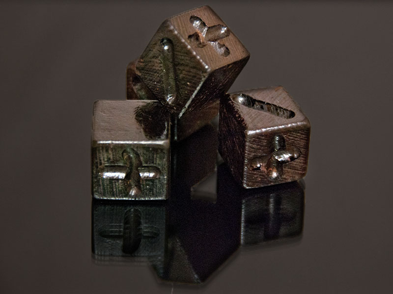 A set of Wenge Fudge dice were some of the first to be made.