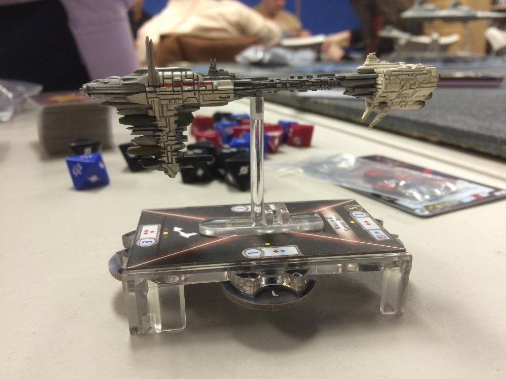 The model for the Nebulon B-class Frigate