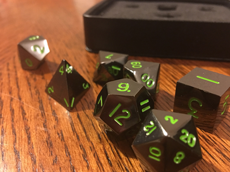 There were no odd markings or scratches on the dice I received, but that's no surprise at all. The cool cats at Easy Roller inspect each die before shipping them out. That's dedication right there.