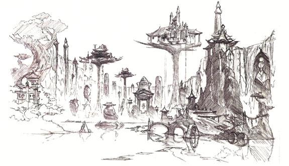 Kamigawa Island concept art.