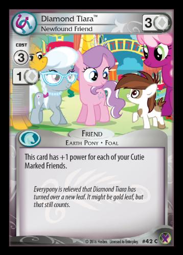 42 Diamond Tiara, Newfound Friend