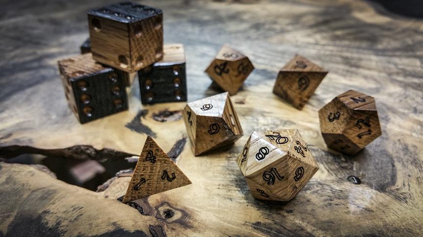 Jack-Daniels-Oak-Polyhedral-Dice