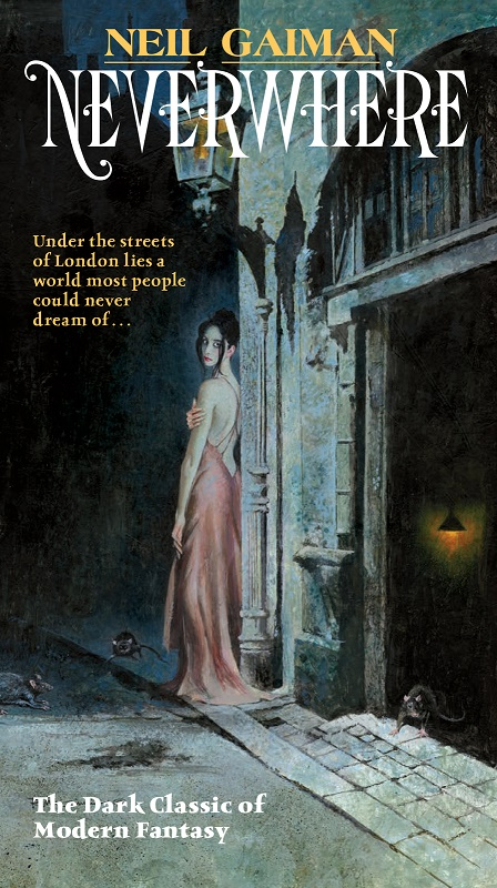 Last year, Neil Gaiman re-released paperbacks of his novels with classic paperback cover artist Robert E. McGinnis.