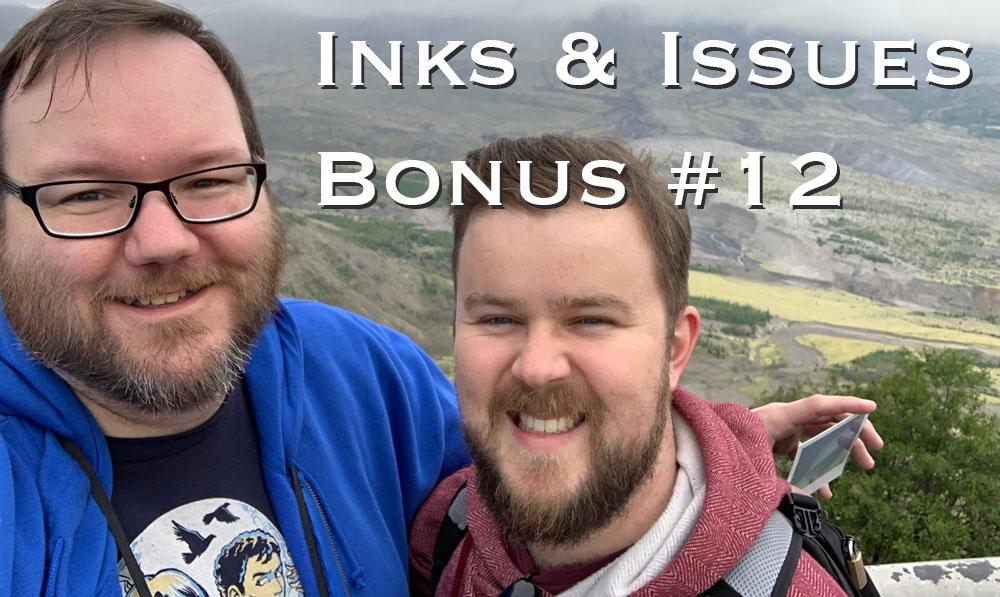 Jonah & Kieran standing in front of Mt. St. Helens